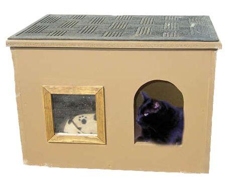 Будиночок з картону для кішки