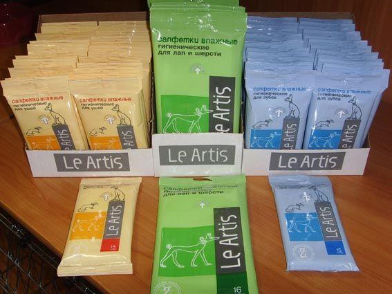 Гігієнічні серветки для кішок Le Artis