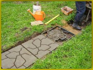 Як бетонувати доріжки на дачі: фото