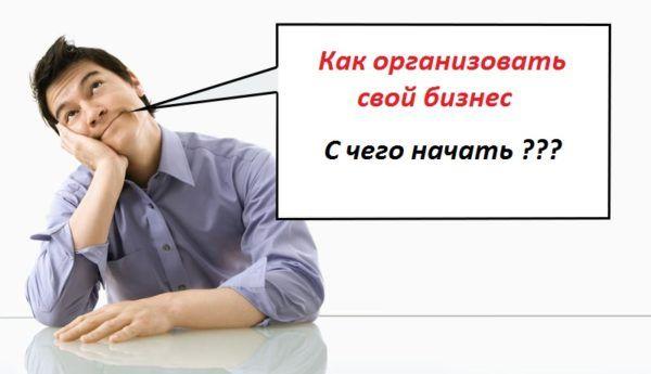 Як організувати свій бізнес з чого почати