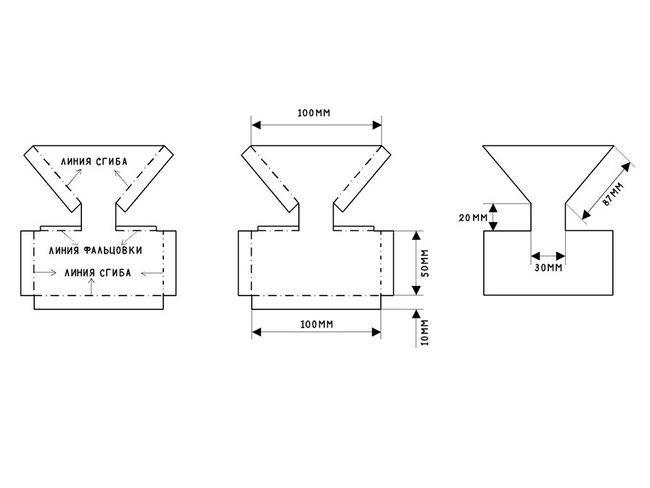 Схема бункерній годівниці для курчат