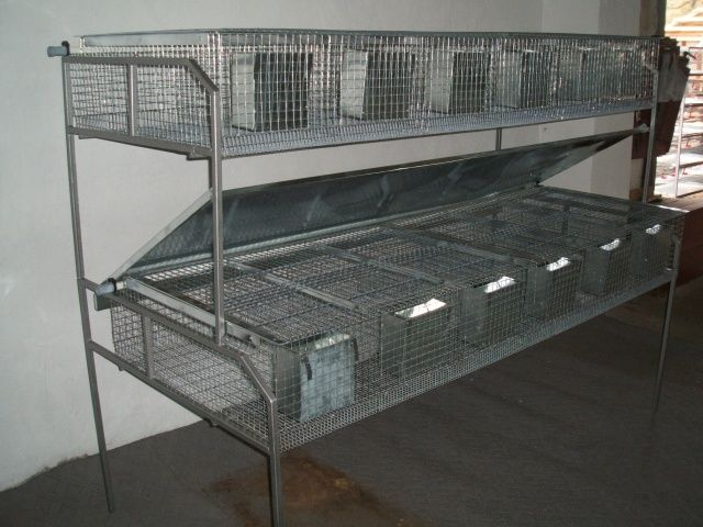 Клітки для кролів промислового виробництва