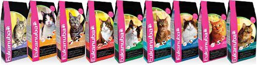 лінійка кормів для кішок Eukanuba
