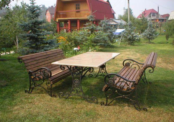 Ковані меблі для дачі та саду інтернет магазин