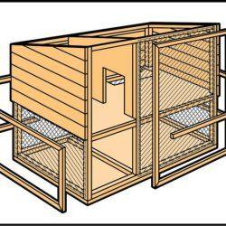 Крок 6 при будівництві кролятніка