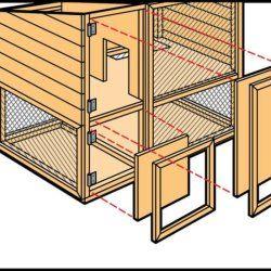 Крок 7 при будівництві кролятніка