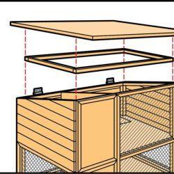 Крок 8 при будівництві кролятніка