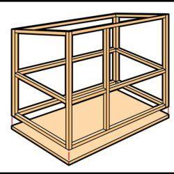 Крок 2 при будівництві кролятніка