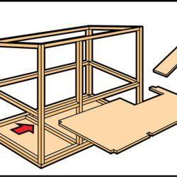 Крок 3 при будівництві кролятніка
