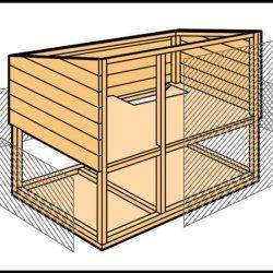 Крок 4 при будівництві кролятніка