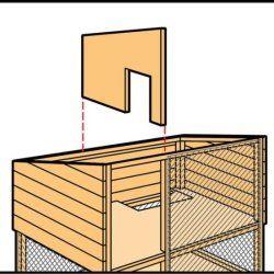 Крок 5 при будівництві кролятніка