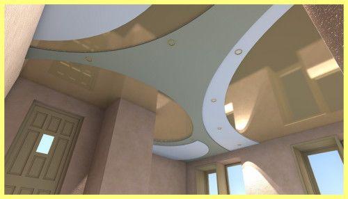 Натяжна стеля на кухні дизайн фото: види стель
