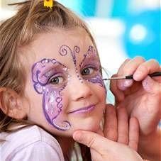 Малюнки на обличчі для дітей, дитячі татуювання, аквагрим