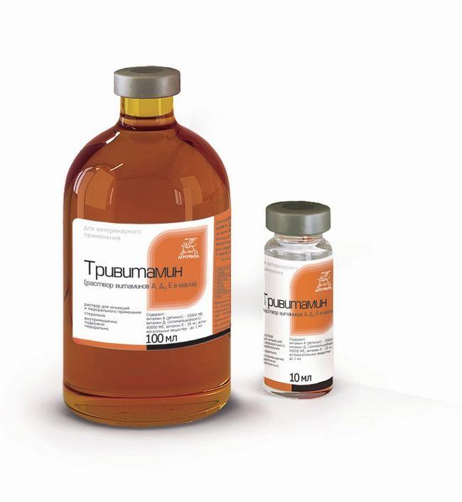 Тривитамин в різних ємностях