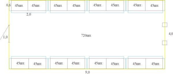 Креслення курника для бройлерів
