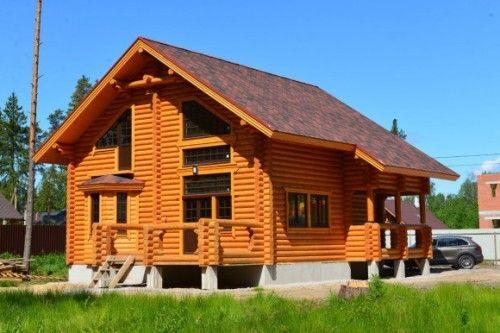 Будівництво будинків з оциліндрованих колод в спб і ленобласті
