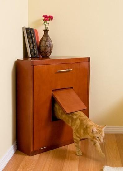 вбудований котячий туалет
