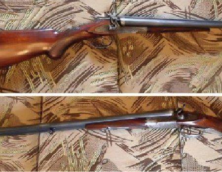 Внешнекурковое двоствольну рушницю тоз-бм з горизонтальним розташуванням стовбурів