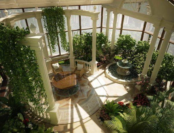 Зимовий сад в приватному будинку фото